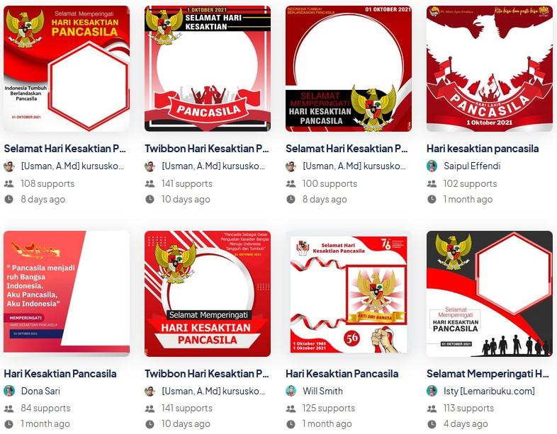Download Twibbon Bingkai Foto Profil Hari Kesaktian Pancasila